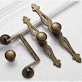 América diseress cômoda puxadores de bronze antigo com backplate maçaneta maçaneta da porta do armário de cozinha de bronze anéis gota de gaveta knob pull