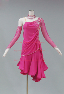 Image 5 - ラテンダンススカート大人の高品質ステージタンゴルンバサンバ衣装女性のラテン競争ダンスドレス