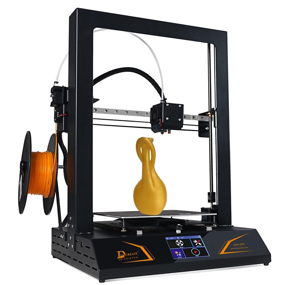 DMSCREATE DP6 3D-принтеры комплект предварительная сборка сенсорный экран Высокая точность линейной направляющей металлический хорошего качеств...