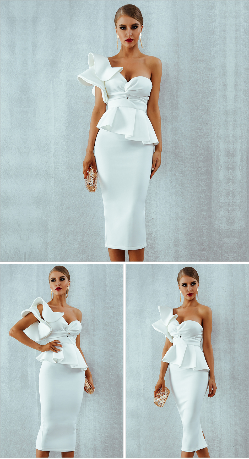 Adyce Celebrity Evening Party Dress Women 19 Sexy Bodycon Sets One Shoulder Ruffles Short Sleeve Strapless Club Dress Vestidos 10