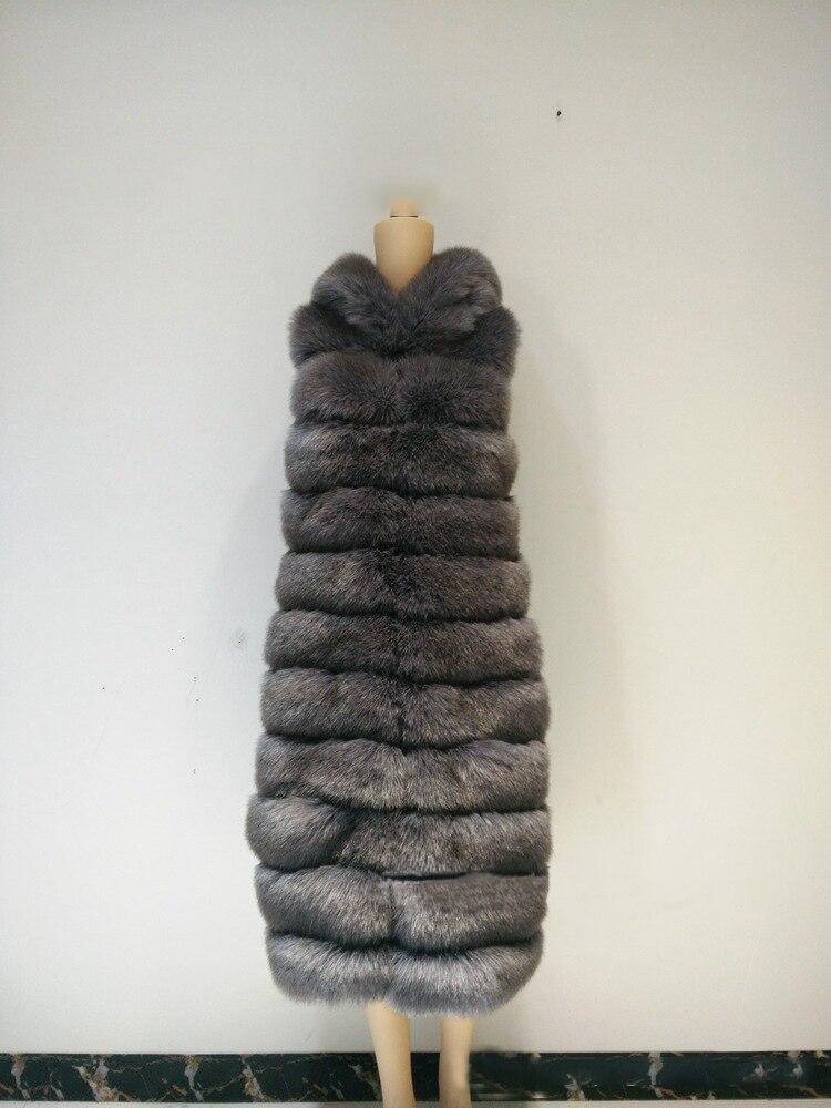 087ea949e2ef Female Vest From Faux Fur Artificial Fox Fur Coat with Big Hood Good ...