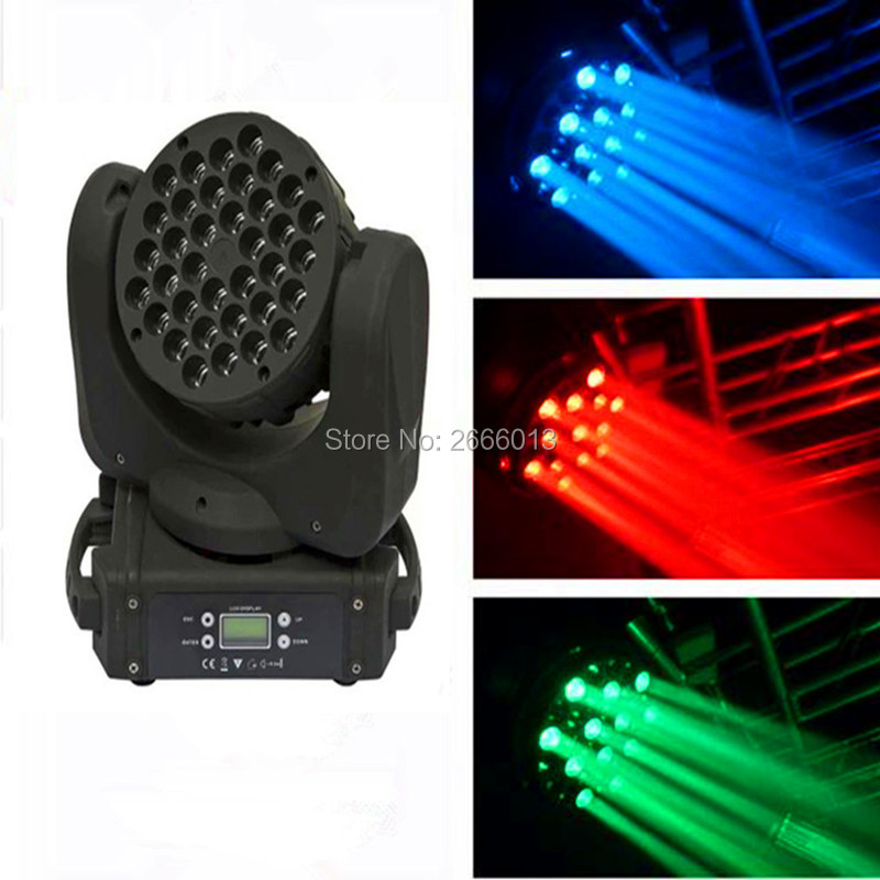 2pcs/lot High brightness 36x3W led beam moving head lights/RGBW linear  dimmer led moving head/dj disco lighting LED party lights