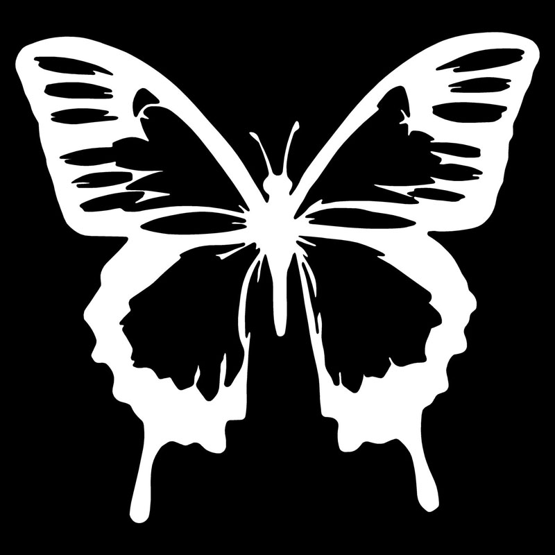 Classic Butterfly Vinyl Decal Sticker