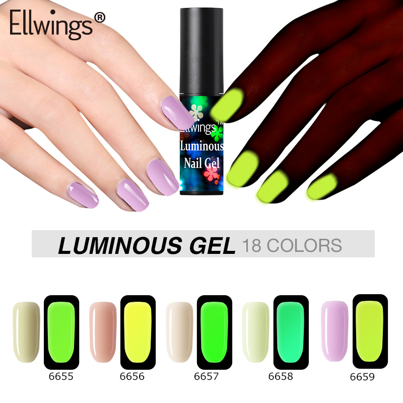 Detail Feedback Questions about Ellwings Luminous Nail Gel Polish ...