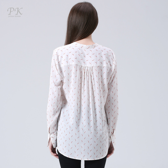 PK puff sleeve print women blouses 2017 all over print blouse casual feminina blusa imported-china vintage viscose summer blouse