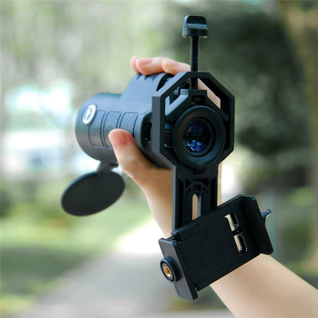 huge discount d655a d303d US $25.89 30% OFF|Phone lens Kit 40*60 Zoom Telescope Lenses Stand Adapter  Tripod Holder For Iphone 6S Plus Samsung Galaxy S8 Smartphone Lens Sets-in  ...