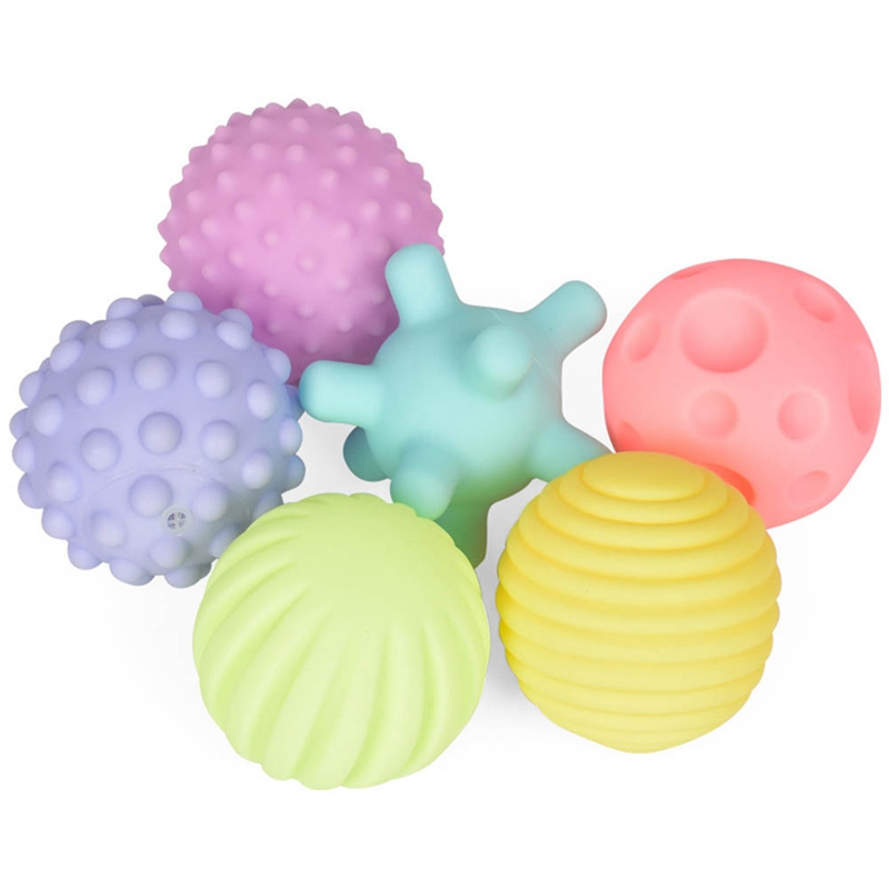 Nice 4/6 Pcs Infant Toys Early Education Puzzle Multi-texture Soft Rubber Handball Sets Tactile Sensory Massage Ball Baby Development
