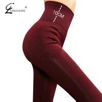 CHRLEISURE High Waist Winter Leggings Women Pants Warm Thick Tight Leggins Stretch Velvet Legging High Elastic