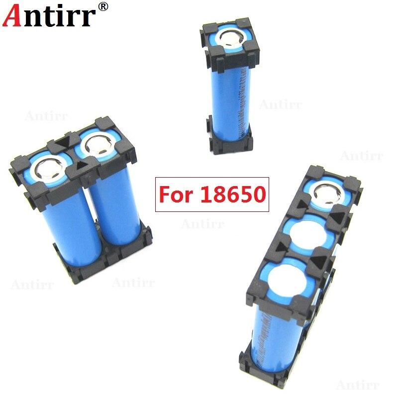 все цены на 20pcs Plastic 1 2 3 Cell 18650 Battery Holder Bracket Cylindrical Li-ion Batteries Pack fixture Anti Vibration Case Storage Box онлайн