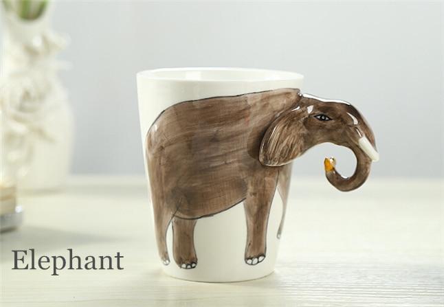 Cartoon Ceramic Milk Tea 3D Animal Shape Drinking Coffee