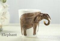 Cartoon Ceramic Milk Tea 3D Animal Shape Drinking Coffee Mug Giraffe Cow Monkey Dog Camel Elephant Cat Mugs and CupsGreat Gift