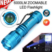 Skywolfeye Super 6000LM CREE Q5 AA/14500 3 Modes ZOOMABLE LED Flashlight Torch Super Bright Dropshipping 0206(China)