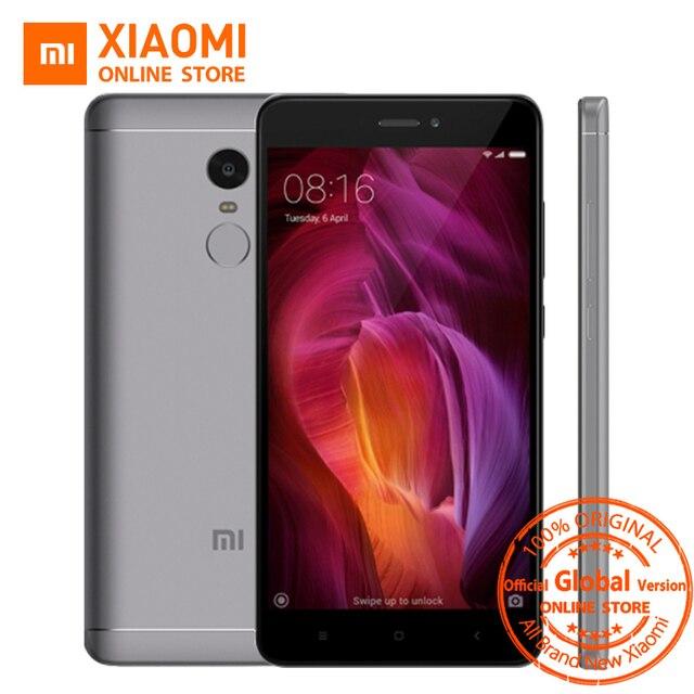 """Глобальная версия Xiaomi Redmi Note 4 Qualcomm 3 ГБ 32 ГБ мобильный телефон Snapdragon 625 Octa Core 5.5 """"1080 P 13MP 4100 мАч fcc MIUI 9"""