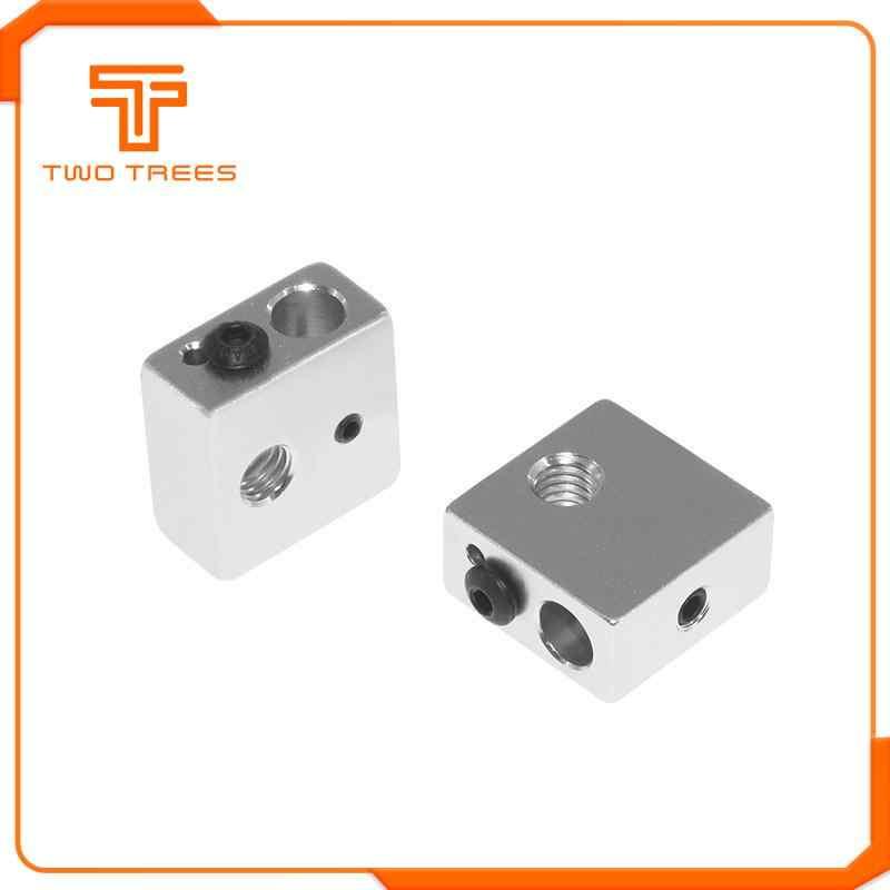 Аксессуары для 3D-принтера нагревательный блок MK7 MK8 специальный печатающая головка с подогревом алюминиевый блок MK8 экструдер