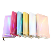 US $3.0 |New Fashion Laser Zipper Long Wallet Women Leather Money Pouch Coin Phone Card Passport Holder Clutch Wallets Female Purses-in Wallets from Luggage & Bags on AliExpress