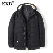 KXD 2017 Winter Jacket Men Fashion Design Brand Parka Men Clothing Zipper Coat Male With Pockets