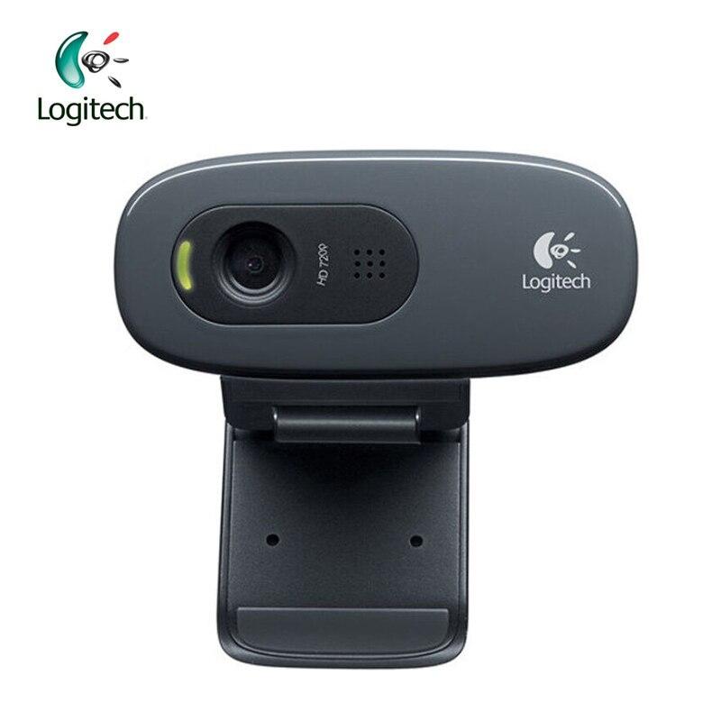 Logitech C270 HD Vid 720 p Webcam avec Microphone USB 2.0 Soutien Test Officiel pour PC Ordinateur Portable Appels Vidéo