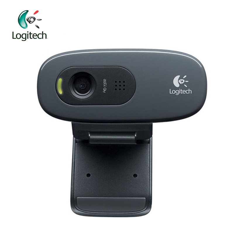 Logitech C270 HD Vid 720P Webcam with Micphone USB 2.0 Support Official Test for PC Lapto Video Calling