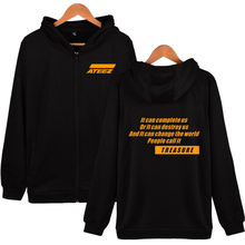 Drop shopping ATEEZ Tracksuit Loose Hoodie Sweatshirts Women/Men Autumn South Side Ladies Hoodies Clothes