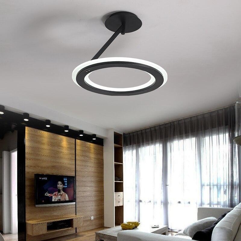 Black/White Ceiling Chandelier Modern LED Chandelier lighting Iron Acrylic Dia 48cm 55w For Living Room Dining Room lustre цена