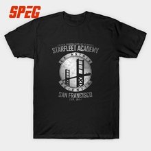 Tee Streetwear Starfleet Academy Male Slim Fit Tees Humor Youth T Shirt