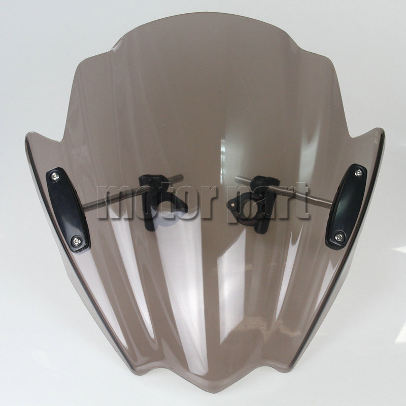 Motorcycle Windshield For KTM 390 200 125 690 Duke R 390Duke 200Duke 1290 Super DukeR ABS Plastics Windscreen Deflectors Smoke