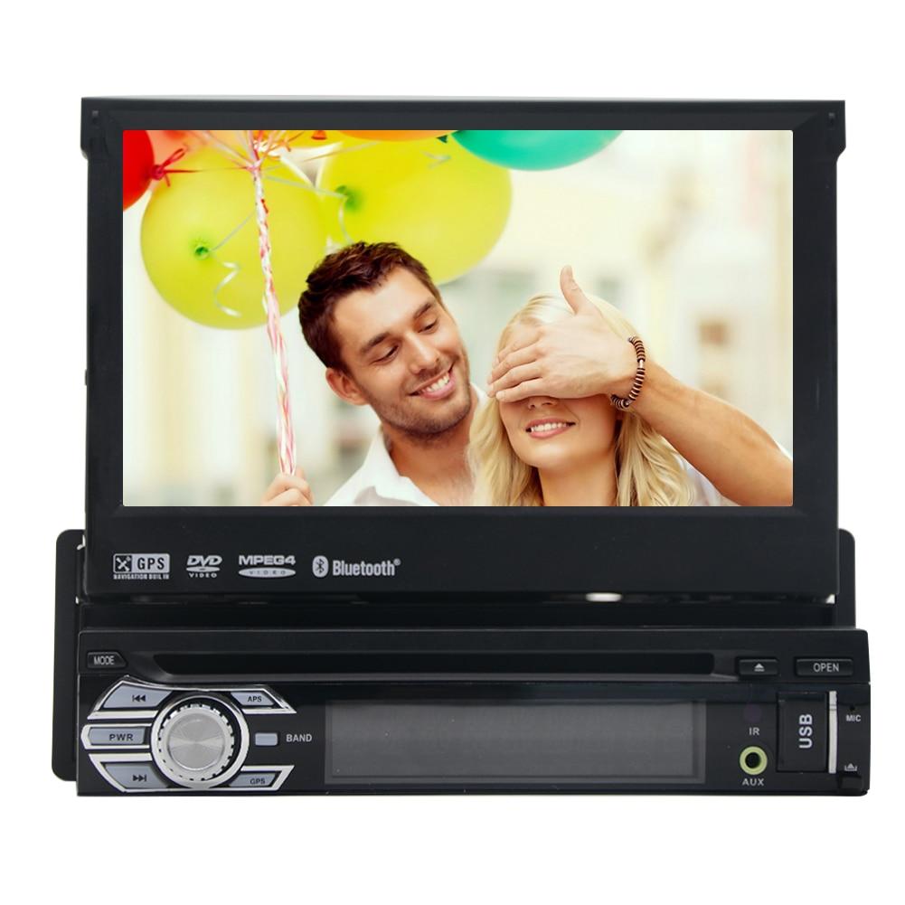 Sistema de Navegación Bluetooth MP4 Película GPS Auto Estéreo Reproductor de DVD AMPLIFICADOR EQ 1din Volante Auto de Radio Electrónica