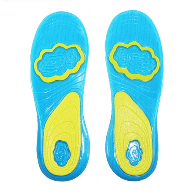New Shoe Inserts Deodorant Pad Orthopedic Plantar Fasciitis For Men Women Silicone Gel Insoles Sports Running Insoles Massaging