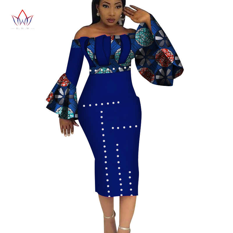 For Vestidos Summer Women Cotton Mid African 5xl Party Hot Clothing Calf Print Wy3208 Nature 2019 Traditional Dress Dashiki SzpGMUVq