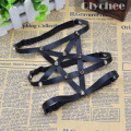 Fashion Suspenders New Sexy Punk Goth Harajuku Style Suspensorio Star Pentagram Wedding Leather Garter Belt Legr Faux Handmade