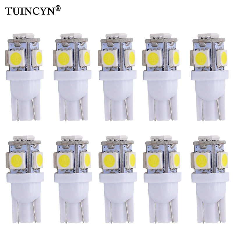 TUINCYN 10PCS Car Lampada Light Super White 194 168 w5w T10 Led Parking Bulb Auto