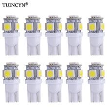 TUINCYN 10PCS Led Car Lampada Light T10 Super White 194 168 w5w Parking Bulb Auto Wedge Clearance Lamp DC 12v Red Orange