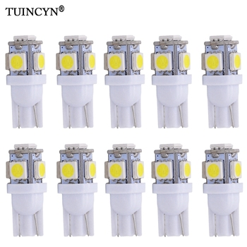 TUINCYN 10PCS Led Car Lampada Light T10 Super White 194 168 w5w T10 Led Parking Bulb Auto Wedge Clearance Lamp DC 12v Red Orange 10pcs car lights t10 led clearance lights w5w parking bulb white 6000k crystal blue 192 168 indoor light 12v car accessories