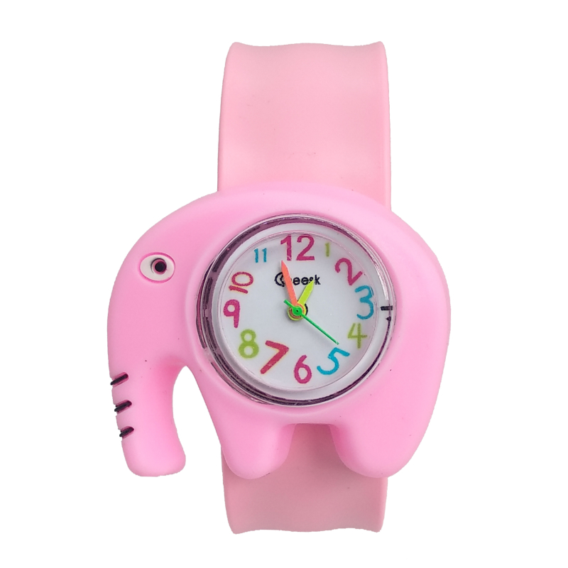 Cartoon Elephant Toys Patted Children Watches Boys Girls Baby Christmas Gifts Digital Watch Kids Birthday Gift Electronic Clock