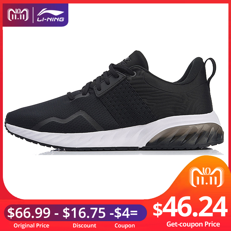 Li-Ning Men GEL GLOSS Walking Shoes Wearable Anti-Slippery Cushion LiNing Fitness Sport Shoes Classic Sneakers AGCN071 YXB212 li ning women gel knit classic walking shoes wearable anti slippery sneakers mono yarn lining sports shoes agln044