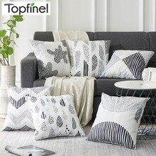 Topfinel, черные Мультяшные наволочки, декоративные, для дома, дешевые, микрофибра, квадратные Чехлы для подушек, для дома, дивана, уличного кресла