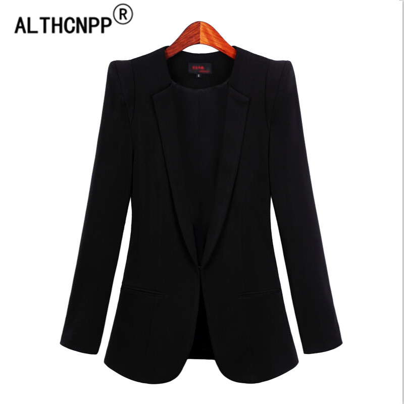 S-5XL Office Wear Women Blazers Jackets Plus Size Spring Autumn Ladies Blazer Mujer Slim Long Sleeve Black White Blazer Feminino
