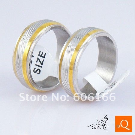 18x lot 18K GP Gold Plated Silver Tone Nice Ring Stainless Steel Ring Fine Fashion Jewelry Rings