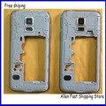 Оригинал Задняя Панель Корпуса Рамка Ближний Рамка Для Samsung Galaxy S5 mini Корпус + Объектив Камеры Стекло, бесплатная Доставка