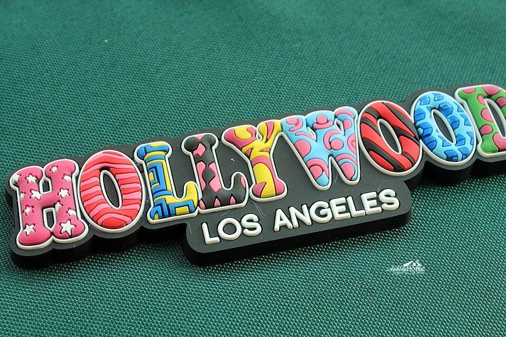 Hollywood, Los Angeles, des États Touristique Voyage Souvenir Coloré Lettres Décoratif Réfrigérateur En Caoutchouc Aimant