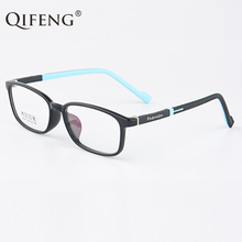 QIFENG Spectacle Frame Men Young People Student Eyeglasses Boy Girl Computer Optical Glasses TR90 Clear Lens Eyewear QF202