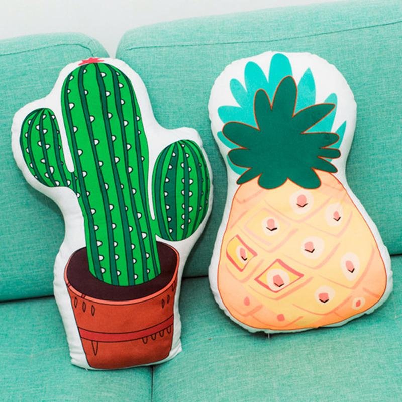 Astounding Us 7 05 New Cactus Pineapple Shaped Plush Pillow Both Sides Printing Plants Fruits Pillow Sofa Chair Kids Cot Decorative Pillow In Stuffed Plush Creativecarmelina Interior Chair Design Creativecarmelinacom
