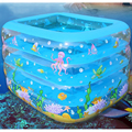 Hot Sale Cute Cartoon Kid Baby Bathtub Inflatable Swimming Water Pool PVC Piscina Bebe Zwembad Massage Point  Anti-Slip Bath Tub