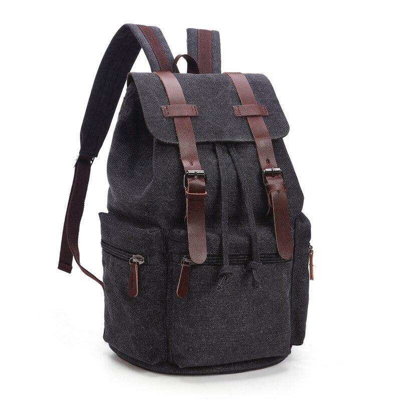 f7ce875999 New Arrive Original Z.L.D Canvas Schoolbag Leather Men Travel Bags Men  Duffel Bags Weekend Bag Overnight Laptop Backpacks B11