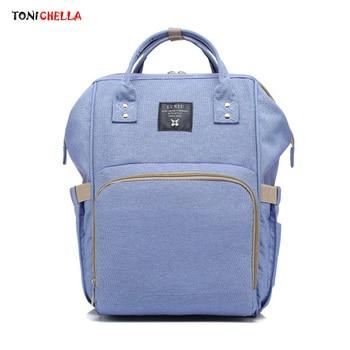 Bolsa de pañales para mujer, mochila de maternidad, bolsas de pañales para bebés de gran capacidad, biberones de almacenamiento para bebés T0567