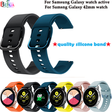 sport silicone watch band strap For Samsung galaxy active straps Galaxy 42MM smart wristband New