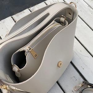 Image 5 - Rahat Pu kova çanta kadın çanta moda serpantin kayış omuz çantaları bayan büyük kapasiteli Messenger Crossbody çanta 2019 Sac