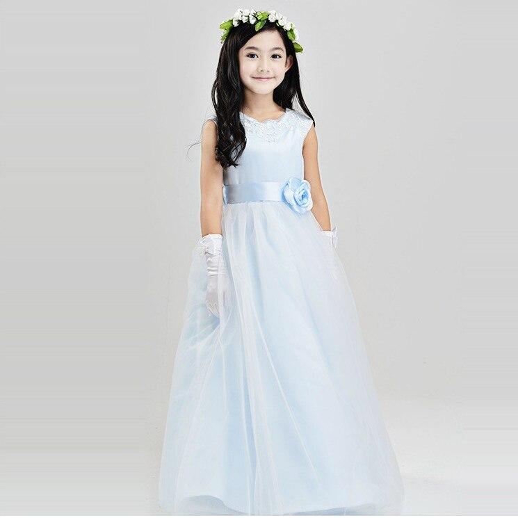 Ukuran 110 160 Remaja Gaun Bola Vintage Yang Panjang Gaun Pesta
