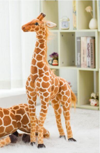 small cute plush simulation giraffe toy new standing giraffe doll gift about 78cm big new simulation giraffe toy polyethylene