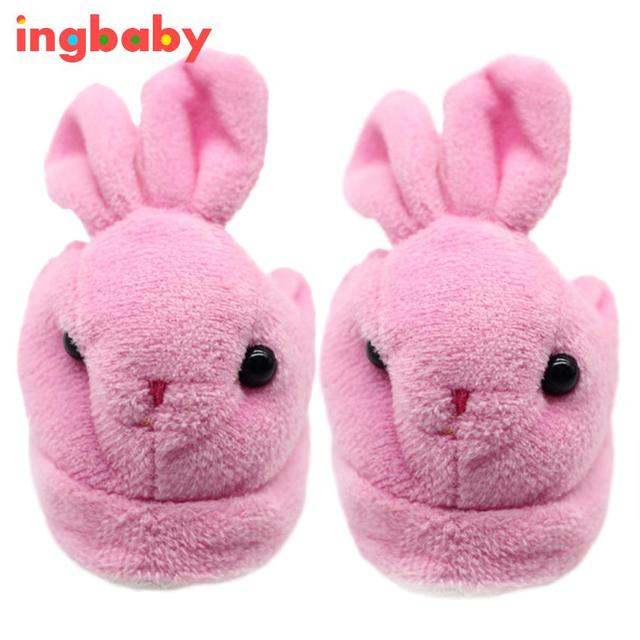 6962783bede4 Pink Rabbit American Dolls Fluffy Shoes Children Dress Up Shoes 16 Inch 18  Inch Doll Cute Plush Slippers ingbaby WJ431